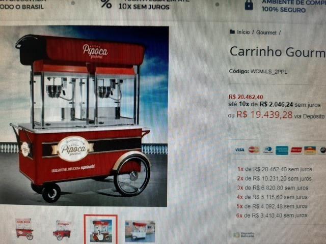Carrinhos Pipoca Gourmet - Foto 2