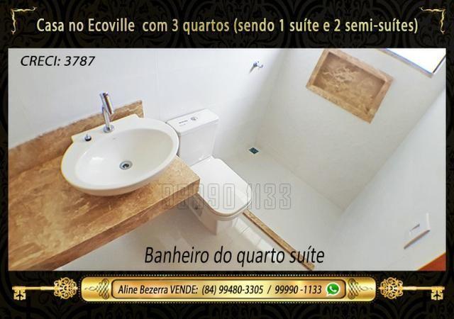 Casa no Ecoville, 3 quartos sendo 1 suíte com closet, lavabo, Etc - Foto 14