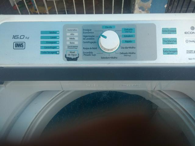 Máquina de Lavar. 14 Kilos. Completa. Panasonic. Faz Tudo. Super Conservada. Só 580,00 - Foto 2