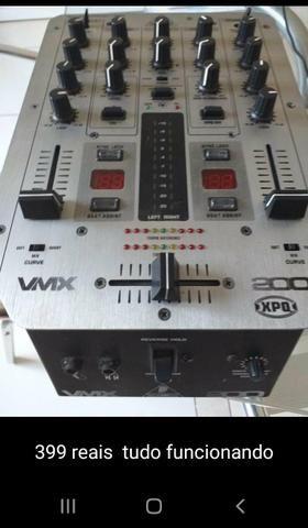 Microfone mesa de som iluminação controladora laser mixer multi cabo - Foto 2