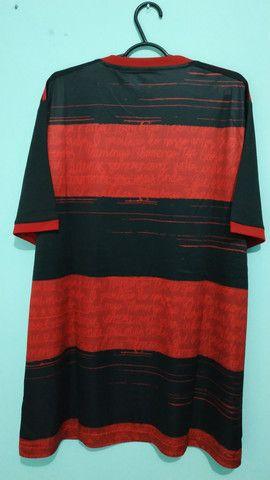 Camisa do Flamengo Rubro Negra Masculina 2020/21 - Foto 4