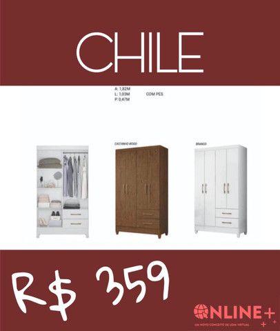 Guarda Roupa Chile- 4 portas// promoção limitada