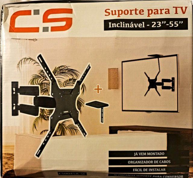 Suporte Brasforma Sbrp14 Para Tv/monitor De 23 A 55 Preto - Foto 3
