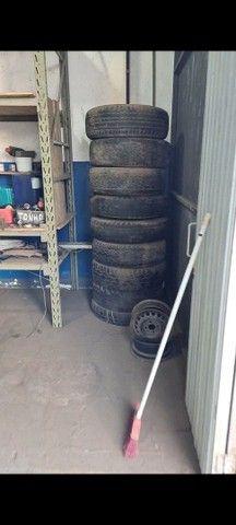 Desapego de Lote de rodas de ferro aro 16 com friso para uso de pneu com câmara  - Foto 3