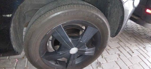 Rodas de liga Aro 15 com 2 pneus Remold NOVOS e dois meia boca - Foto 2