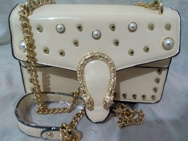 Bolsa transversal feminina Branca  - Foto 5