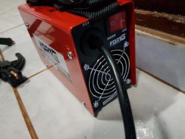 Máquina Inversora de Solda MMA 100A com Acessórios - Fortg produto novo - Foto 2