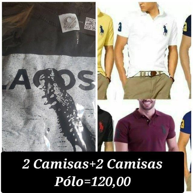 2 Camisas+2 Camisas Pólo =120,00.,.,.,.,
