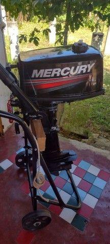 Bote Baleeira com motor de 5 Hp Mercury  - Foto 6