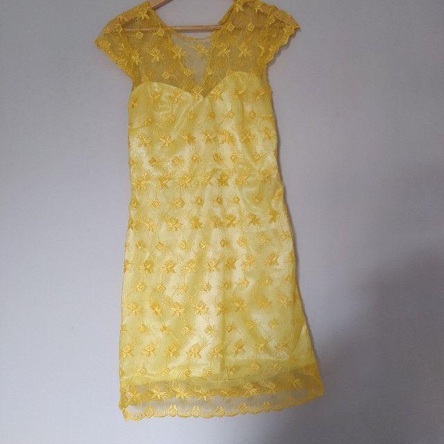 Vestido de festa amarelo - feito sob medida - usado apenas uma vez
