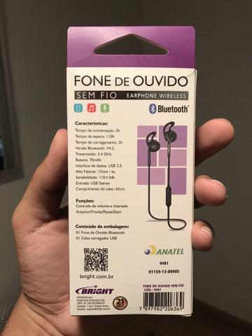 Fone de ouvido Bluetooth- seminovo