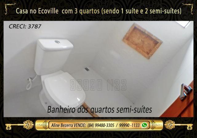 Casa no Ecoville, 3 quartos sendo 1 suíte com closet, lavabo, Etc - Foto 10