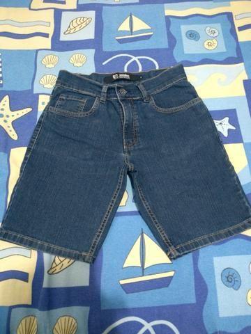 Bermuda jeans infantil tamanho 12