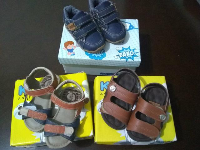Vendo lote de sapato de menino e tapete de Eva - Foto 5