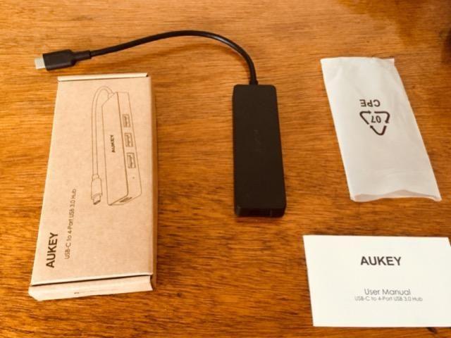 Adaptador Hub USB-C Aukey CB-C64 MacBook Pro - 4 portas USB 3.0 - Foto 2