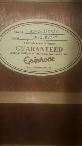 Violão Epiphone AJ-220 SCE Natural ? Instrumento usado - Foto 6
