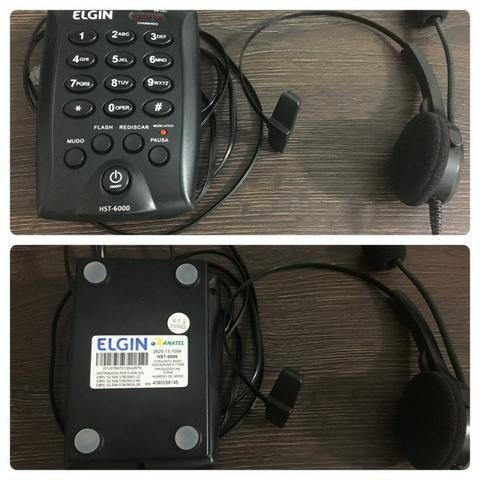 Vendo Aparelho telefonico marca Elgin - Headset - Foto 2