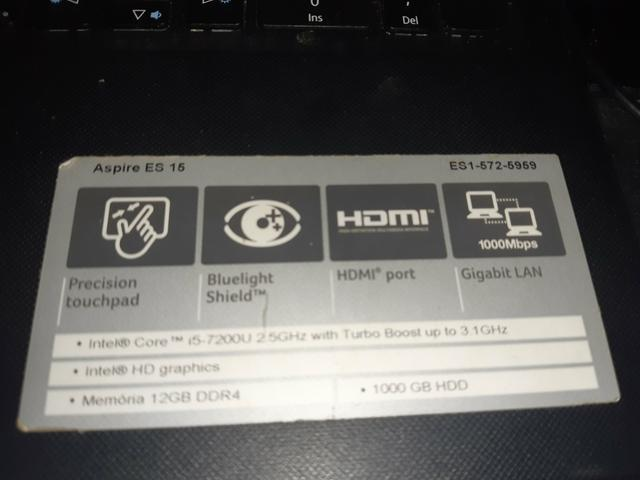 NOTEBOOK GAMER ACER i5 12 ram 1TB - Foto 2