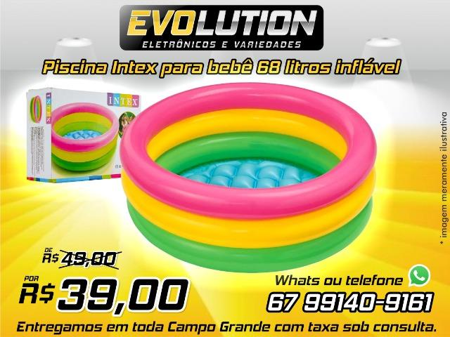 Piscina Intex inflavel para bebê Por do Sol 38 L