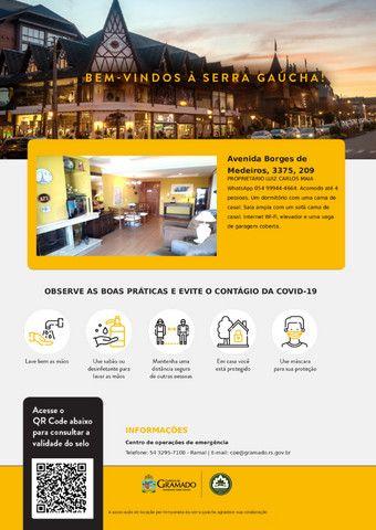 Apartamento Temporada Gramado centro próx Rua Coberta e Palácio Festivais - Até 4 pessoas - Foto 17
