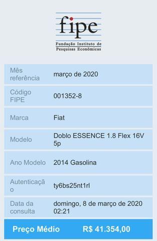 Fiat Doblò 2014 Essence 1.8 6 Lugares Aceito Trocas Moto ou Carro - Foto 17