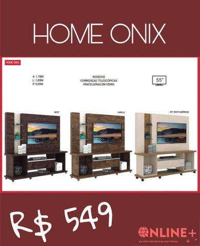 Painéis Home Onix- prateleiras de vidro