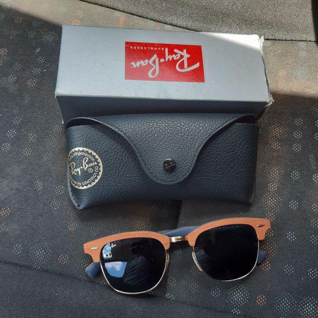 Óculos de Sol Ray Ban Clubmaster wood
