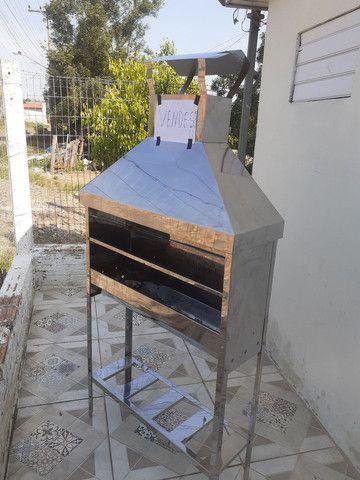 Churrasqueira de inox para churrasquinho - Foto 3