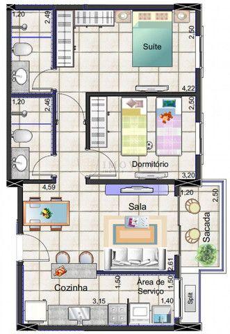 Ap. Novo 2 dormitórios Nova aliança c\Lazer - Foto 9
