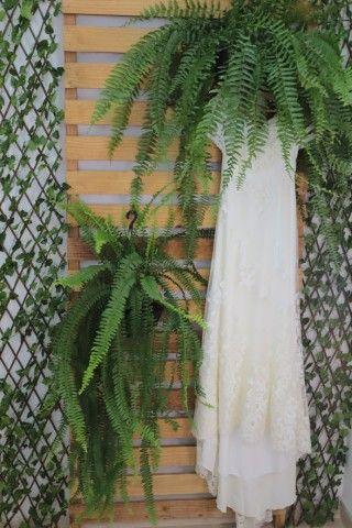 Vestido de noiva rendado + véu - Foto 3