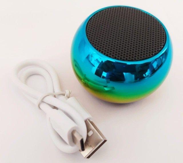 Caixinha Som Bluetooth Tws Metal Mini Speaker 3w Portátil - Foto 4