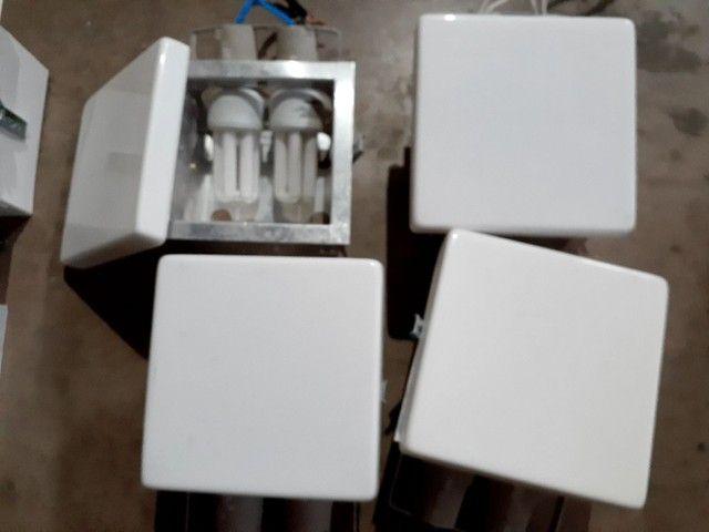 4 Luminárias de Embutir 20 cm x 20 cm, todas por R$ 70,00