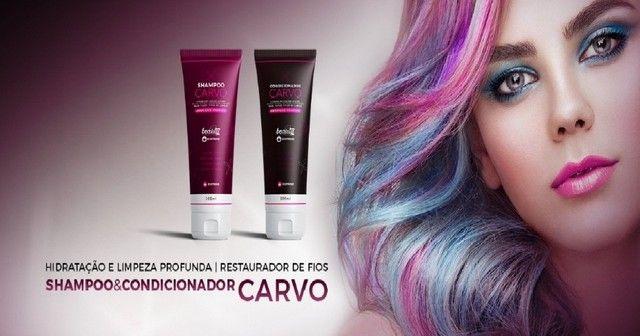 Kit Shampoo e Condicionador Carvo - Foto 2