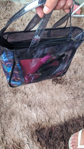 Bolsas para itens de maquiagem ou praia