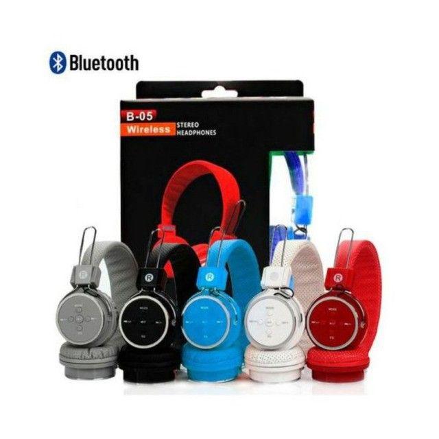 Fone Ouvido Sem Fio Bluetooth Celular/p2/card - Foto 6