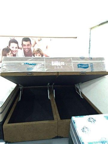 Cama baú, box baú, base baú, cama box baú novos reforçado  - Foto 2