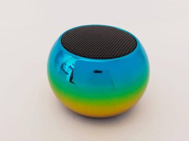 Caixinha Som Bluetooth Tws Metal Mini Speaker 3w Portátil - Foto 2