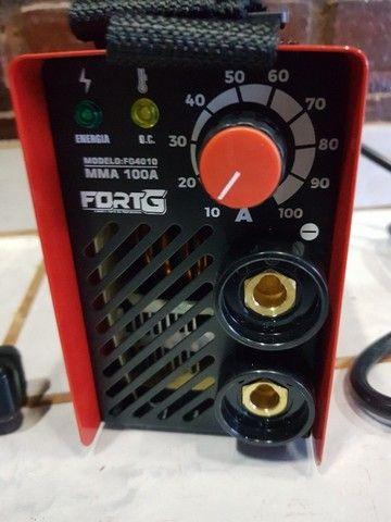 Máquina Inversora de Solda MMA 100A com Acessórios - Fortg produto novo - Foto 4