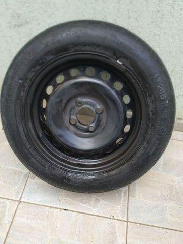 Pneu aro 15 com roda 100 - Foto 4