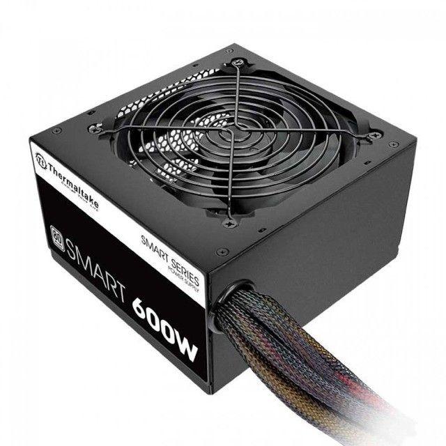 Fonte Thermaltake 600W 80 Plus White Smart Series,PFC Ativo,Nf e garantia , Loja Mega - Foto 4