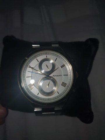 Relógio Akium nunca usado ! Original Vivara de prata e folheado a ouro  - Foto 6