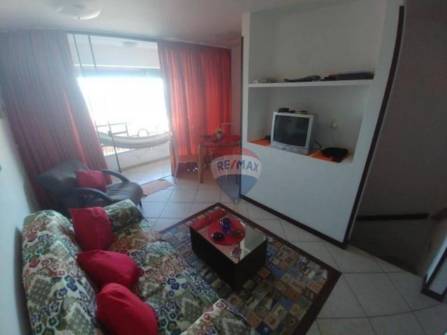 Flat estilo casa duplex com 2 dormitórios à venda, 57 m² por r$ 185.000 - ponta negra - na - Foto 8