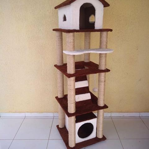 Casinha e arranhadores para gatos - Foto 2