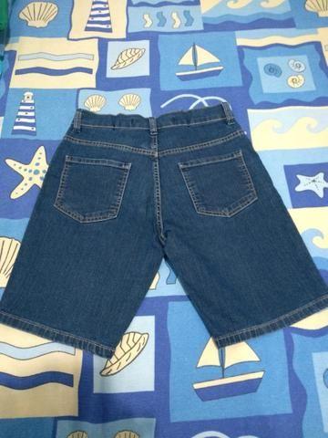 Bermuda jeans infantil tamanho 12 - Foto 2