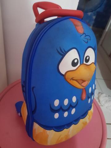 Mini mochila 3d da galinha pintadinha com lancheira