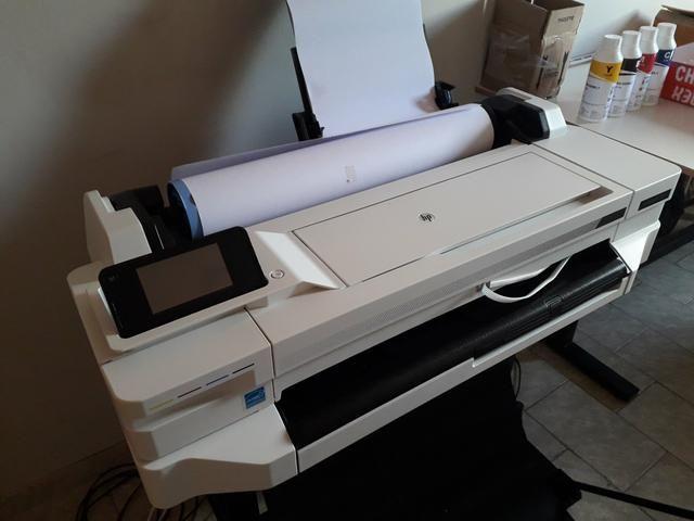 Plotter HP designjet T530 nova sem uso com Bulk r$:5.900