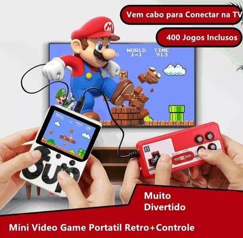 Mini game portátil retrô Nintendo 400 jogos incluso + controle player 2 - Foto 2