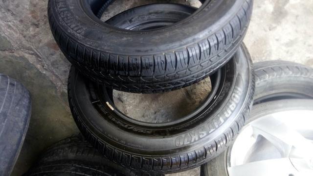 2 pneus 165/70/13 seminovo - Foto 4