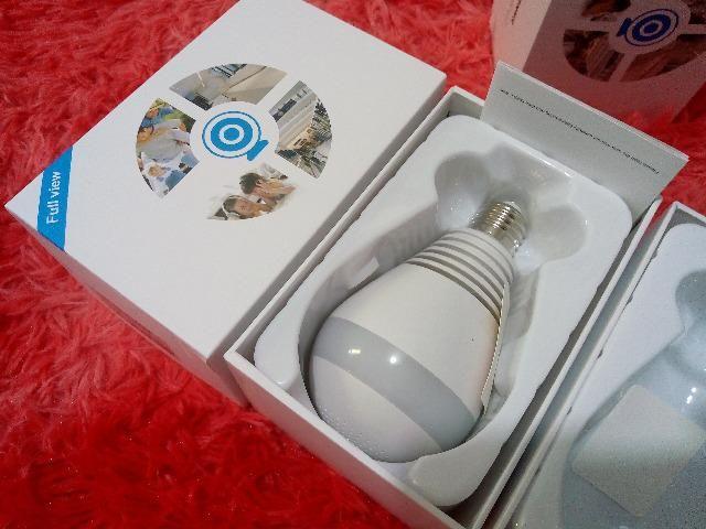 Câmera Segurança Lampada Espia Wifi - imagens pelo celular oferta - Foto 2