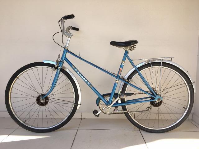 Bicicleta Peugeot - Aro 26 - Azul - Ótimo Estado - Antiga - Foto 2